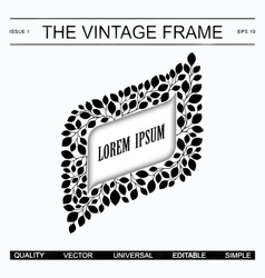 The vintage frame template vector