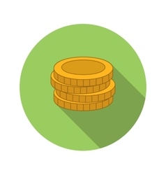 Stack of coins flat icon vector
