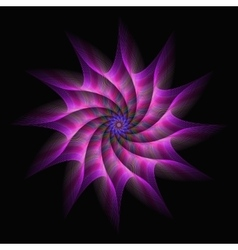 Pink purple motion star fractal abstract vector