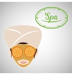 Spa center design health icon isolated vector