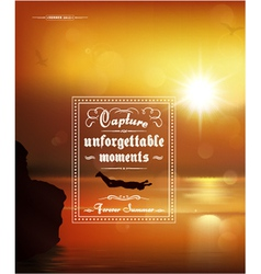 Typography summer poster vector