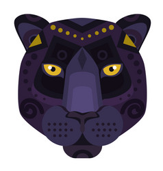 Black panther puma head logo decorative vector