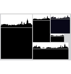 city card set vector image
