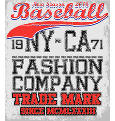College baseball team badge in retro style vector