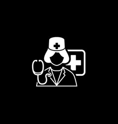 doctor on duty icon flat design vector image vector image