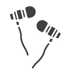 earphones glyph icon music and instrument vector image vector image
