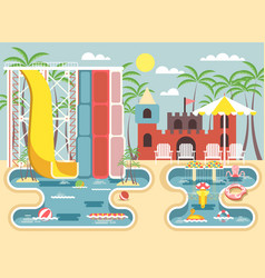 exterior water park vector image