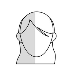 Head of faceless woman icon image vector