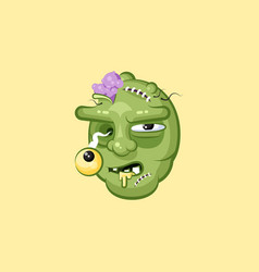 Head terrible facial expression hungry zombie vector
