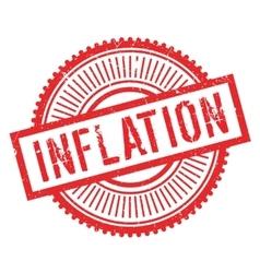 Inflation stamp rubber grunge vector