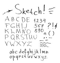 Ink stroke font vector