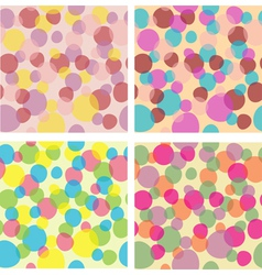 Seamless backgrounds vector image vector image