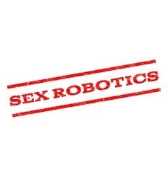 Sex robotics watermark stamp vector