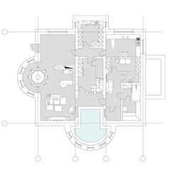 standard living room furniture symbols set vector image vector image