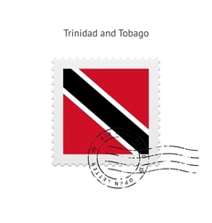 Trinidad and Tobago Flag Postage Stamp vector image vector image