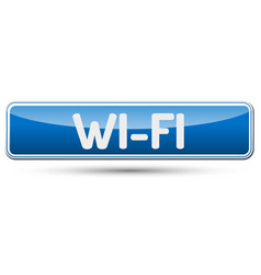 Wi-fi - abstract beautiful button with text vector