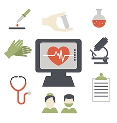 Cardiology and health care concept vector