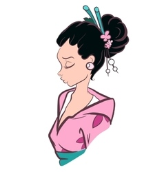 Geisha Woman vector image