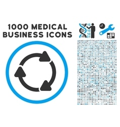 Rotate cw icon with 1000 medical business vector