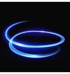 Blue light whirlpool luminous swirling vector