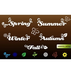 Seasons names and elements vector