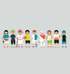 young athletes vector image
