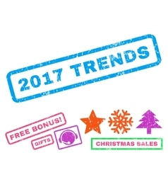 2017 trends rubber stamp vector