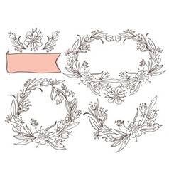 Decorative elements floral vector