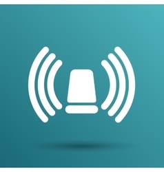 Icon beacon siren isolated caution police white vector