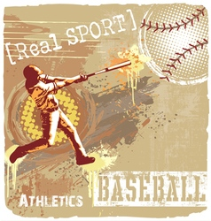 Baseball batter up vector