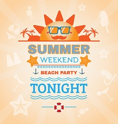 Beach party banner vector