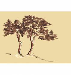 Trees sketch vector