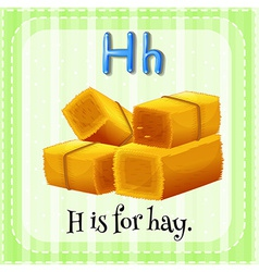 A letter h for hay vector