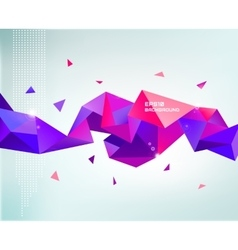Abstract colorful purple faceted crystal vector
