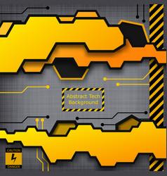 abstract tech construction template vector image