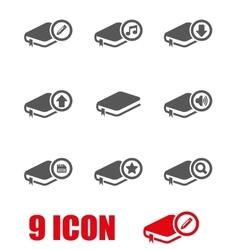 black book icon set vector image