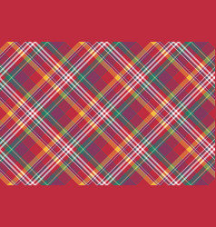 check colored diagonal plaid madras seamless vector image