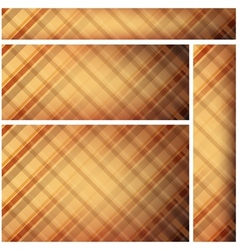 Checkered textured banners vector
