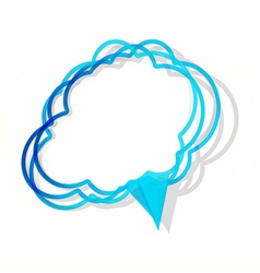Cloud sticker in the form of an empty frame for vector image vector image