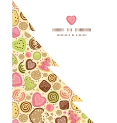 colorful cookies Christmas tree silhouette pattern vector image