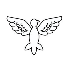 Dove peace flying wings symbol design vector