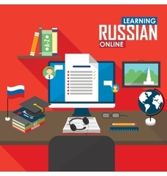 E-learning russian language vector