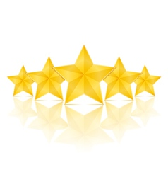 Five Stars vector image vector image