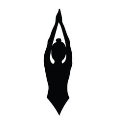 girl beauty black silhouette vector image