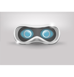 Glasses for virtual reality in 3d front view vector