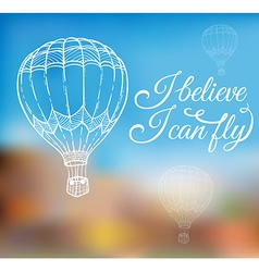 Hand drawn air balloon vector image vector image