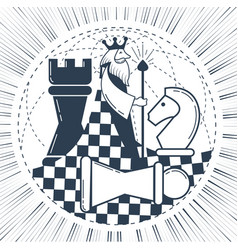 icon of the global chess game chess vector image vector image