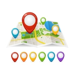 Maps and Pin Navigation vector image vector image