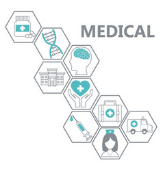 medical healthcare service vector image