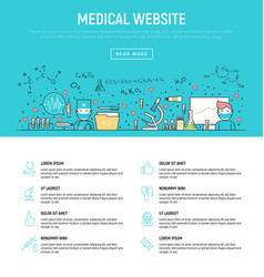 modern concept of medical vector image vector image